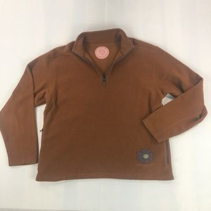 LIFE IS GOOD Brown Fleece Pullover Sweater Size M